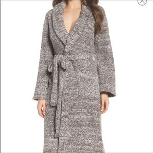 Barefoot Dreams Cozy Chic Heather Gray Robe Size 2